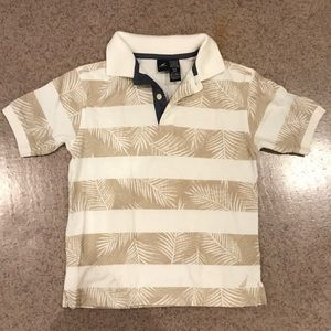 Nautica Boys Beige/White Patterned Polo Size 8